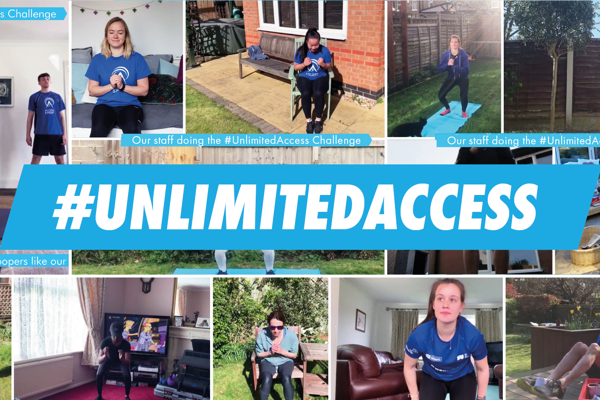 Em Sheldon, Elinor Barker and Rebecca Charlton take on our #UnlimitedAccess Challenge!
