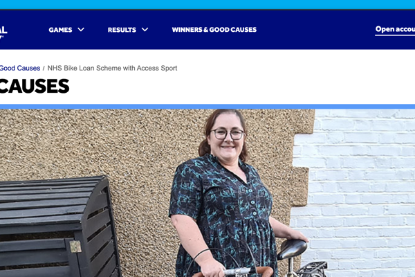 The National Lottery Spotlight Access Sport Bike Loan Scheme!
